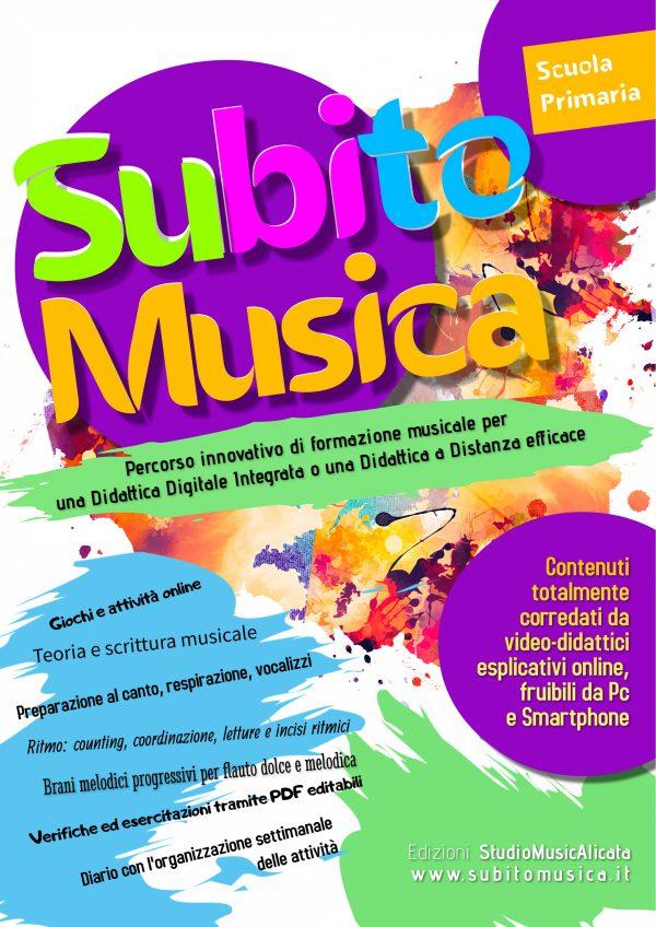 Copertina del libro SubitoMusica scuola Primaria.