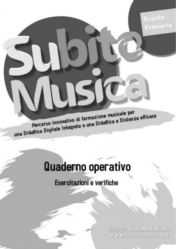 Quaderno operativo di musica cartaceo, esercitazioni, note, figure, tempo, pause,